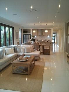 New Living Room Sofa Beige Interiors Ideas New Living Room, Interior Design Living Room, Living Room Designs, Living Room Decor, Beige Couch Decor, Living Room Flooring, Modern House Design, Design Case, Brown Rugs