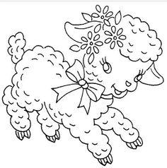 Hand embroidery patterns free printables free vintage baby lamb tri chem 0667 p vintage embroidery patterns dt1010fo