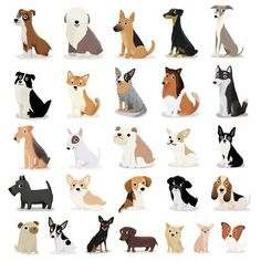 Dog Overload - Cute Dog Series Art Print ★ Find more at http://www.pinterest.com/competing