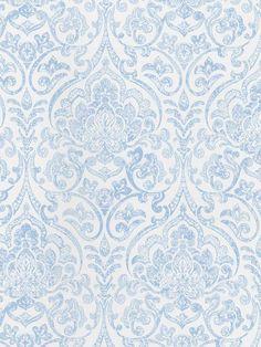 Vintage blue and white damask