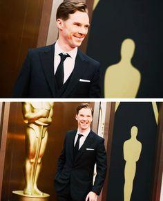 Benedict Cumberbatch at the Oscars 2014!