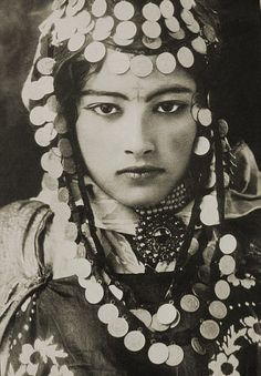 A dancing girl of the Ouled Nail (Algeria)  1922.   By the geniuses Lehnert and Landrock.