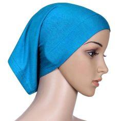 CHICUU - CHICUU Solid Color Muslim Hijab Islamic Turban Inner Cap - AdoreWe.com