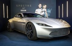 Bond's Aston Martin DB10 arrives in Leicester Square ahead of SPECTRE