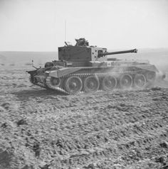 A Cromwell Mk IV of No. 2 Squadron, 2nd (Armoured Reconnaissance) Battalion, Welsh Guards, at Pickering in Yorkshire, 31 March 1944. This photo is often captioned wrongly, stating it was shot everywhere from the desert, to Normandy!