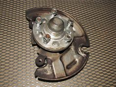 86 87 88 Mazda RX7 OEM Wheel Spindle Hub & Knuckle - Front Right
