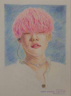 Kim Jinwoo, WINNER , colored pencils, Fan Art, K-Pop