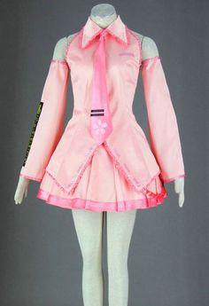 Vocaloid Pink Sakura Hatsune Miku Cosplay Costume