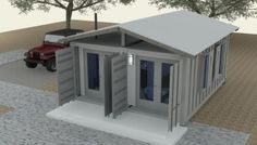 18 Ideas container house design cottages for Shipping Container Cabin Concept – Part 3 Shipping Container Buildings, Shipping Container Cabin, Cargo Container Homes, Shipping Container Home Designs, Storage Container Homes, Building A Container Home, Container House Plans, Container House Design, Tiny House Design