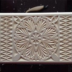 Box with new style of chip carving in progress (2016) » Woodwork Projects & Plans