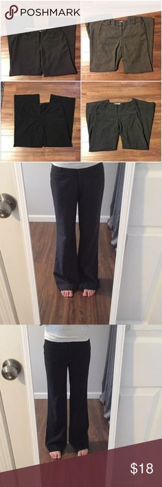 LAST CALL CLEAROUT: 4 GUC Dress Pants LAST CALL USED CLEAR OUT!!! Will be removed on 4/16/18 - lowest price offered.  This is a bundle for ALL 4 USED DRESS PANTS that are listed in my closet (Loft, NY&Co, Apostrophe)!! Please see individual listing for full descriptions. Keep or re-posh :)  Size 2 - Loft Charcoal Grey Size 4 - Loft Brown Plaid Flare, NY&Co Black Flare Size 6 - Apostrophe Dark Grey Loft, NY&Co, Apostrophe Pants Boot Cut & Flare