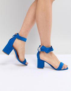bd2404fe217f6 Ted Baker Kerrias Blue Suede Cobalt Block Heel Sandal at asos.com