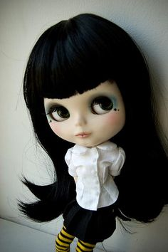 Midnight black hair