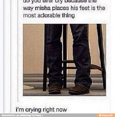 Misha is more adorable than kids. And he's a 40 year old man. PLEASE EXPLAIN THAT TO ME.