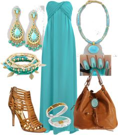 """""""My Favorite Color Is...all different greens and blues"""" by yolandamorales on Polyvore"""
