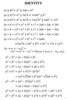Education Discover - Math Vocabulary Maths Algebra Math Formula Chart Algebra Formulas Les Mathes Logic Math Math Genius Physics And Mathematics College Math Gcse Math, Maths Algebra, Math Vocabulary, Logic Math, Math Math, Calculus, Caste Heaven, Math Formula Chart, Math Tutorials