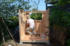 11_setsugo2 Tiny House Cabin, Diy For Kids, Diy And Crafts, Shed, Outdoor Structures, Architecture, Barbacoa, Building, Ideas