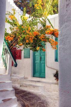 Mykonos Alleyway by pjones747.deviantart.com on @deviantART