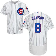 57f455ddccc Cubs  8 Andre Dawson White(Blue Strip) Flexbase Authentic Collection  Stitched MLB Jersey