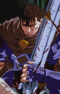 For fans of the manga Berserk and its adaptations. Manga Anime, Old Anime, Manga Art, Anime Art, Nail Bat, Anime Fantasy, Dark Fantasy, Berserk Anime 1997, Arte Obscura