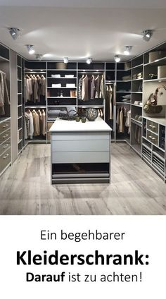Walk-in closet: planning & tips - pay attention to that! - Walk-in closet planning – you should really pay attention to that! Walk-in closet planning – yo - Walk In Wardrobe, Walk In Closet, Bedroom Closet Design, Architectural Section, Luxury Closet, Simple Furniture, Room Planning, Living Room With Fireplace, Home Office Design