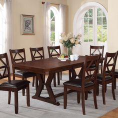 Steve Silver 9 Piece Adrian Dining Table Set  Ssc2439  Products Fair Silver Creek Dining Room Decorating Design