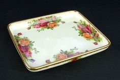 Royal Albert Old Country Roses Oblong Tray 1962-73 VGC