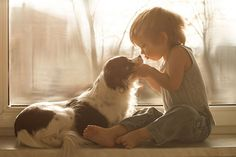 fotos artísticas niños con perros