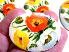 More lovelies from my jewelry haul!  Cabochon  4 RARE Vintage 1940s Glass  by bansheehouseofmake, $8.50