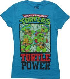 Ninja Turtles Heroes Turtle Power Juniors T-Shirt #blackfriday #blackfridaysale #blackfridaydeals #blackfriday2015