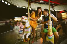 I love a good county/state fair engagement session -  Photo by Look Here Photography | 100 Layer Cake