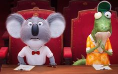21 - A koala named Buster (Matthew McConaughey) recruits his best friend to help him host a singing competition. Sing 2016, Sing Movie, Cinema Party, Illumination Entertainment, Singing Competitions, Cute Little Kittens, Computer Animation, Animation Series, Matthew Mcconaughey
