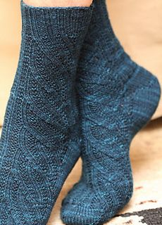 Swirl Socks - A toe up sock pattern by Maureen Fold. Came across this pattern thanks to the Yarn Harlot.
