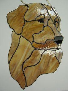Dog Labrador Retriever Tiffany Style Stained Glass Suncatcher