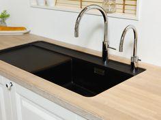 Sink Taps, Sinks, Black Sink, Home Decor, Bamboo, Marble, Homemade Home Decor, Vanity Basin, Sink