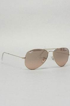 The Aviator Large Metal Sunglasses in Brown and Pink by Ray Ban   Karmaloop.com - Global Concrete Culture - StyleSays