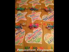 Personalized Clipboards- idea from Young Teacher Love