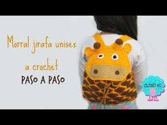 So beautiful!!!!Tutorial morral para niños a crochet- jirafa - YouTube