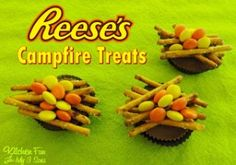 Reese's Campfire Treats including our Stone Mountain Camping Adventure and other Fun Camping Food!