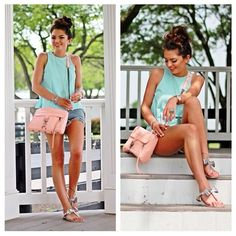 """Spotted while shopping on Poshmark: """"Mint Top""""! #poshmark #fashion #shopping #style #Tops"""