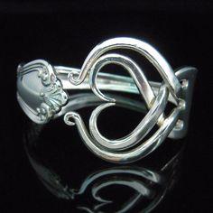 Silver Fork Bracelet in Original Heart Design by MarchelloArt