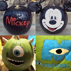Disney Pumpkins- My kids would love these!