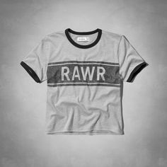girls rawr cropped graphic tee | girls graphic tees | abercrombiekids.com