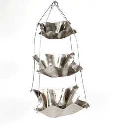 Hammered Stainless Steel Fruit Basket Tower by Hammer It Out on Scoutmob Shoppe  -  lj