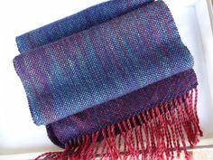 """Schals - Handgewebter Schal """"Pooling"""" - ein Designerstück von Garnexperimente bei DaWanda"""