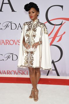 Janelle Monae attends the 2015 CFDA Fashion Awards at Alice Tully Hall at Lincoln Center on June 1, 2015 in New York City.