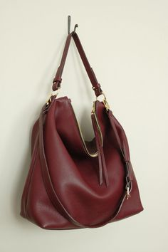 Hey, I found this really awesome Etsy listing at https://www.etsy.com/listing/270697039/sale-burgundy-leather-hobo-bag-top