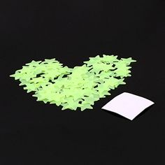 100pcs Plastic 3D Stars Glow In The Dark Luminous Fluorescent Wall Stickers 5Y >>> Want additional info? Click on the image.