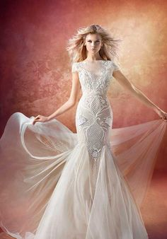 Hayley Paige Vionnet 6657 Mermaid Wedding Dress