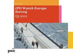 Etude IPO Watch Europe T3 2012.